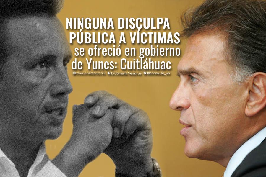 Yunes no fue capaz de disculparse con familiares de desaparecidos