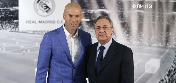 Zinedine Zidane, nuevo entrenador del Real Madrid