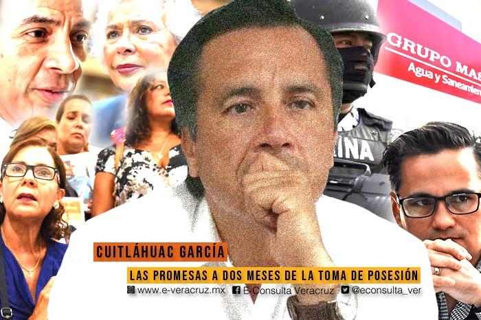 Estas son 10 promesas que ha hecho Cuitláhuac García a los veracruzanos