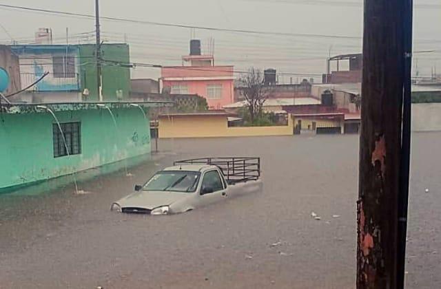 Casas y autos bajo el agua: Xalapa la más afectada por lluvias