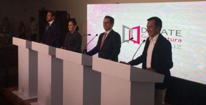 Segundo debate en Veracruz no cambiará; igual formato que el anterior