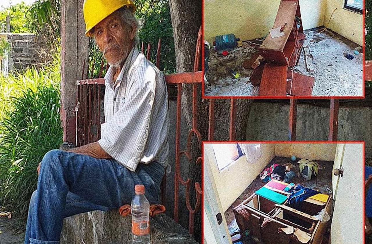Demetrio lo perdió todo tras tormenta en Veracruz-Boca del Río