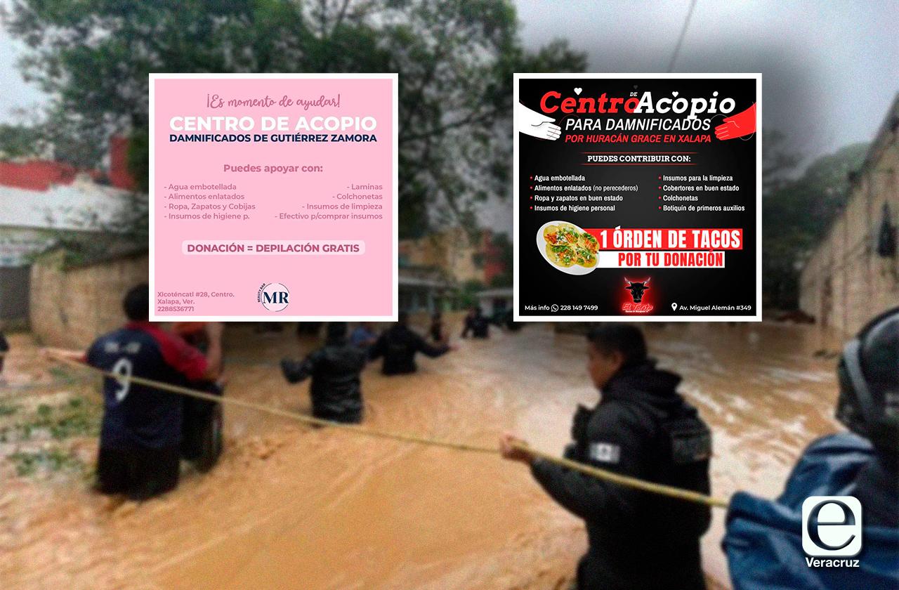 Depilaciones y tacos por víveres: Negocios de Xalapa lanzan campaña