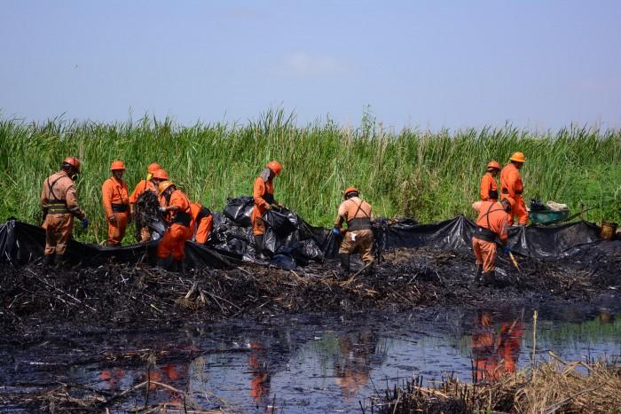Derrame de Pemex podría alcanzar laguna-criadero de manatíes