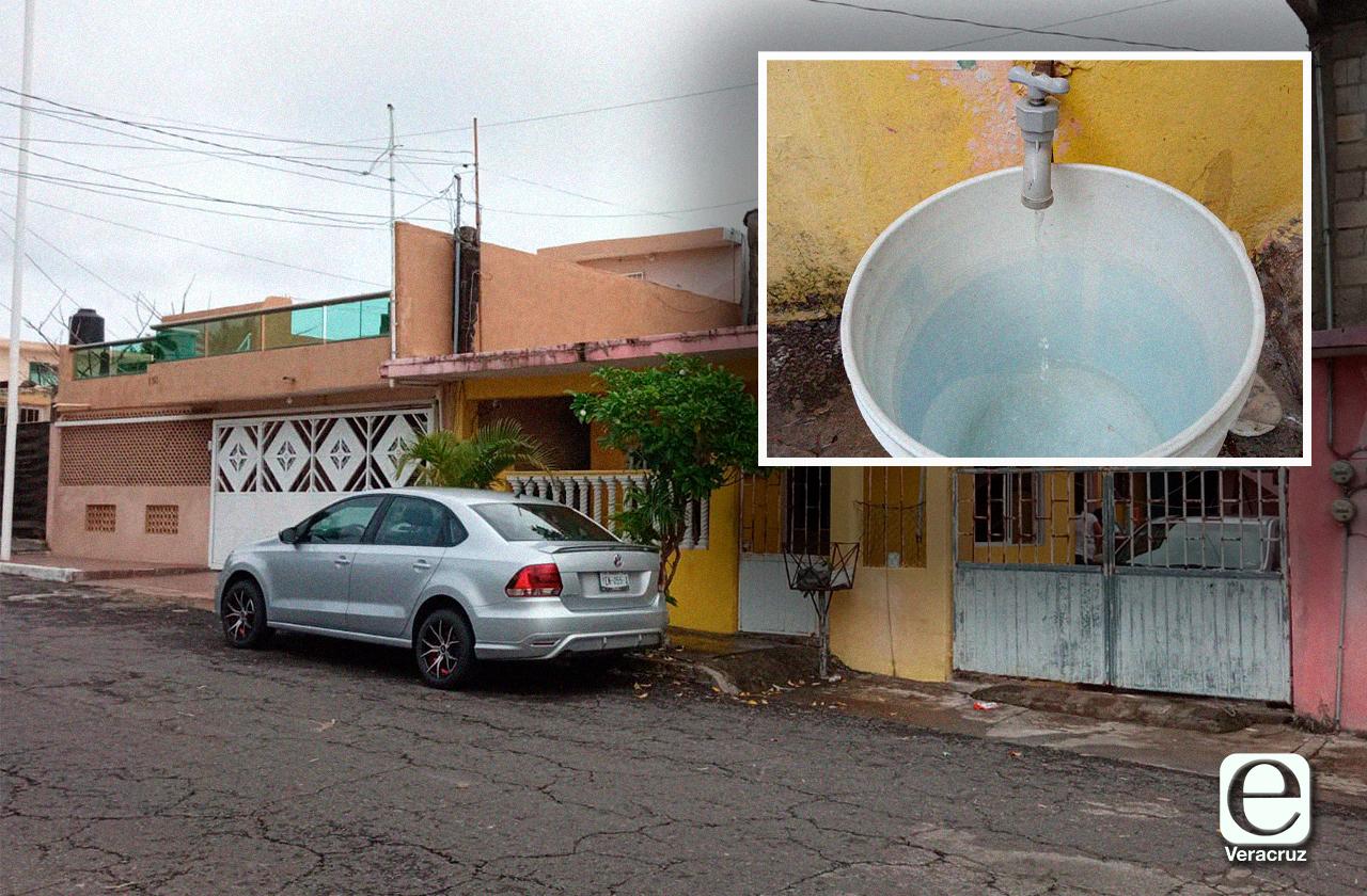 Desabasto y agua sucia: Así reciben servicio en Boca del Río