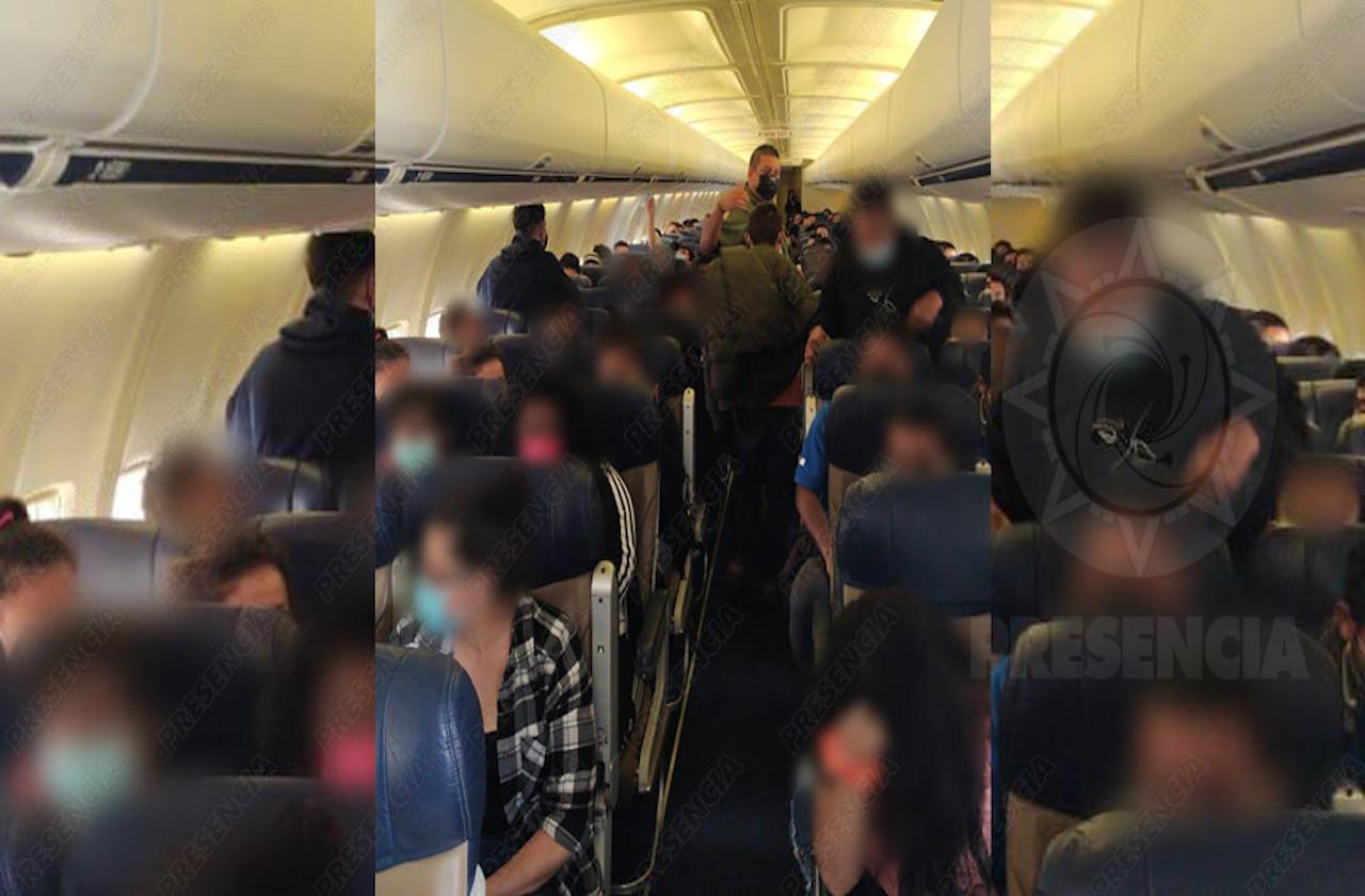 Desde aeropuerto de Mina, Migración repatrió a 136 hondureños