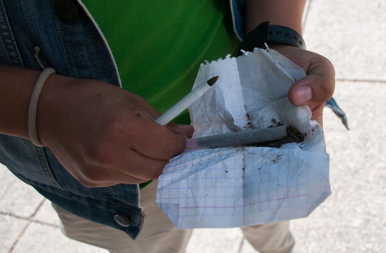 Detienen a 3 por portación de marihuana, en San Andrés Tuxtla
