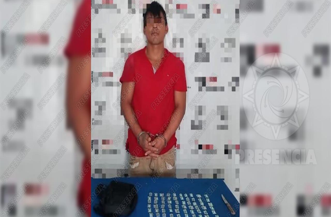 Detienen a presunto narcomenudista en Agua Dulce