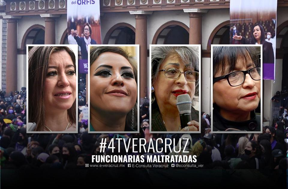 Detrás de los pendones: funcionarias cesadas del gobierno de Veracruz