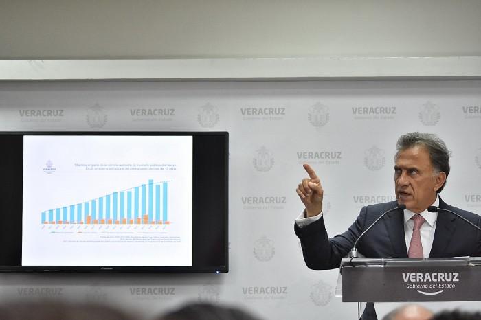 Yunes defiende reestructuración de la deuda ante falta de consenso