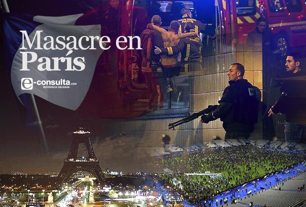 Baño de sangre en París, más de 100 muertos y 100 rehenes