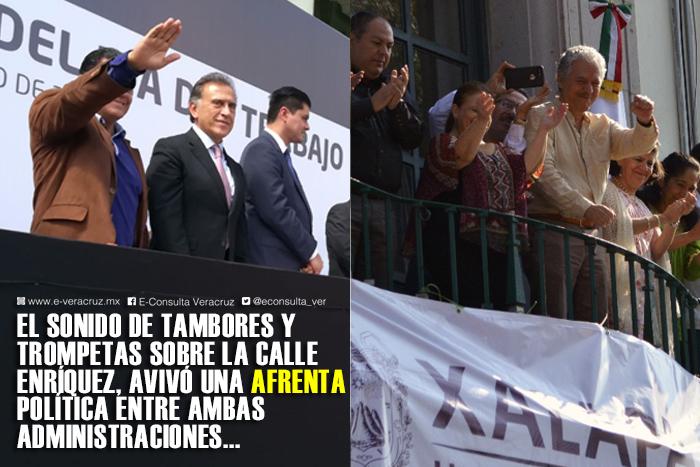 Desfile exhibe distancia entre Yunes y Alcaldía de Xalapa