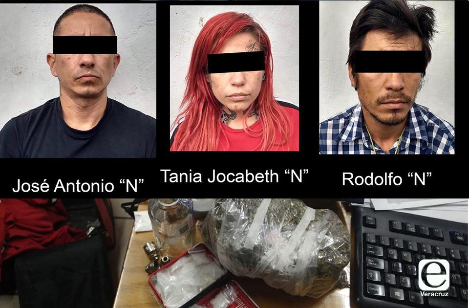 Dosis de cocaína, 1 kg cristal y 32 kg marihuana: lo asegurado en CAXA