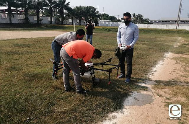Fumigarán con drones en el sur de Veracruz