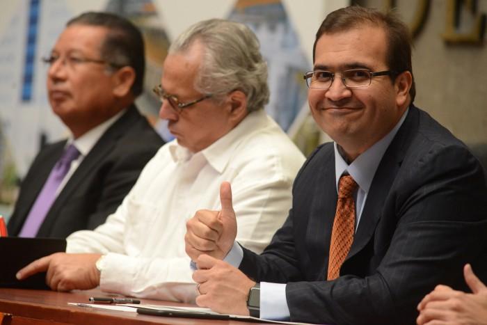 Javier Duarte pide al Congreso de Veracruz reincorporarse al cargo