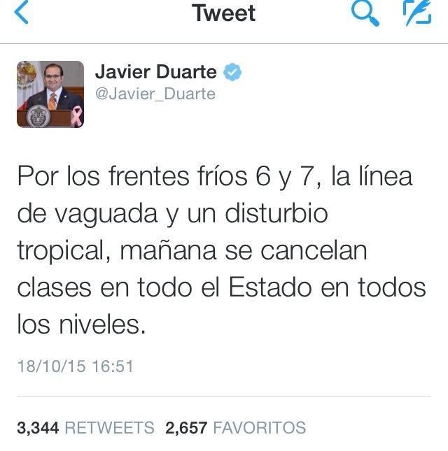 Se suspenden clases en todos los niveles educativos: Duarte