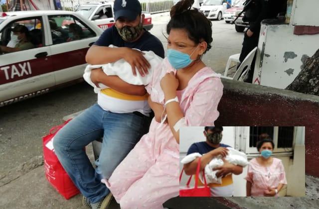 Hondureña da a luz a Kamila en Coatza; buscan quedarse en México