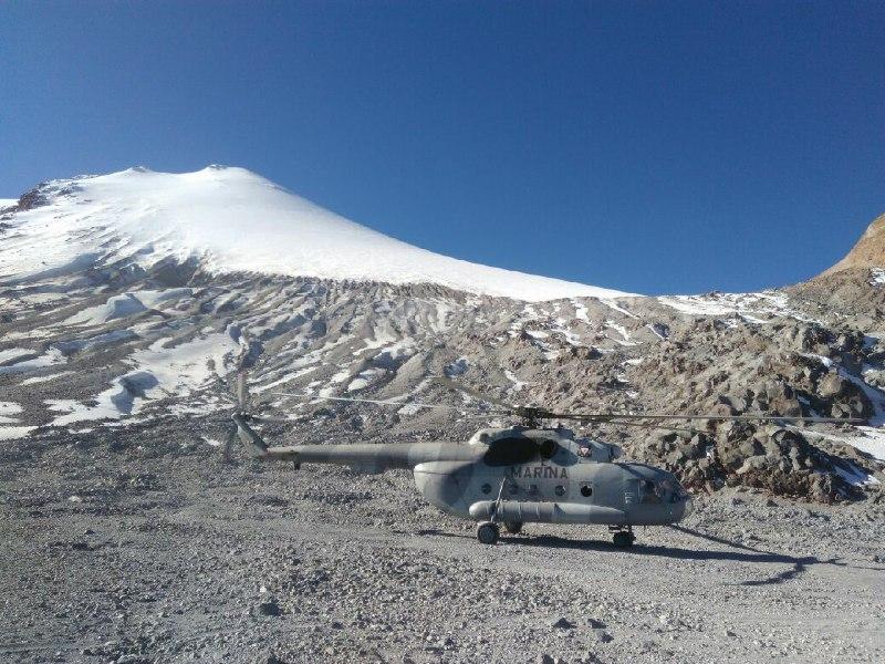 Rescatan a 4 alpinistas del Pico de Orizaba