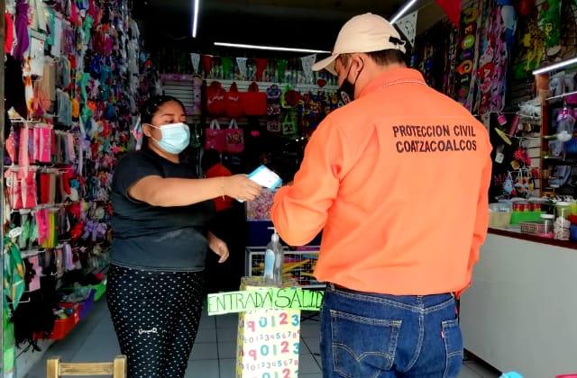 Comerciantes y ciudadanos relajaron medidas: PC de Coatza