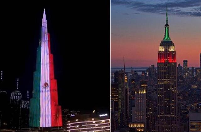 Estos edificios del mundo se iluminaron con colores patrios