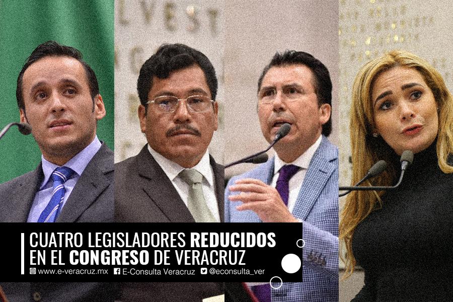 Los diputados que pierden poder en el Congreso de Veracruz