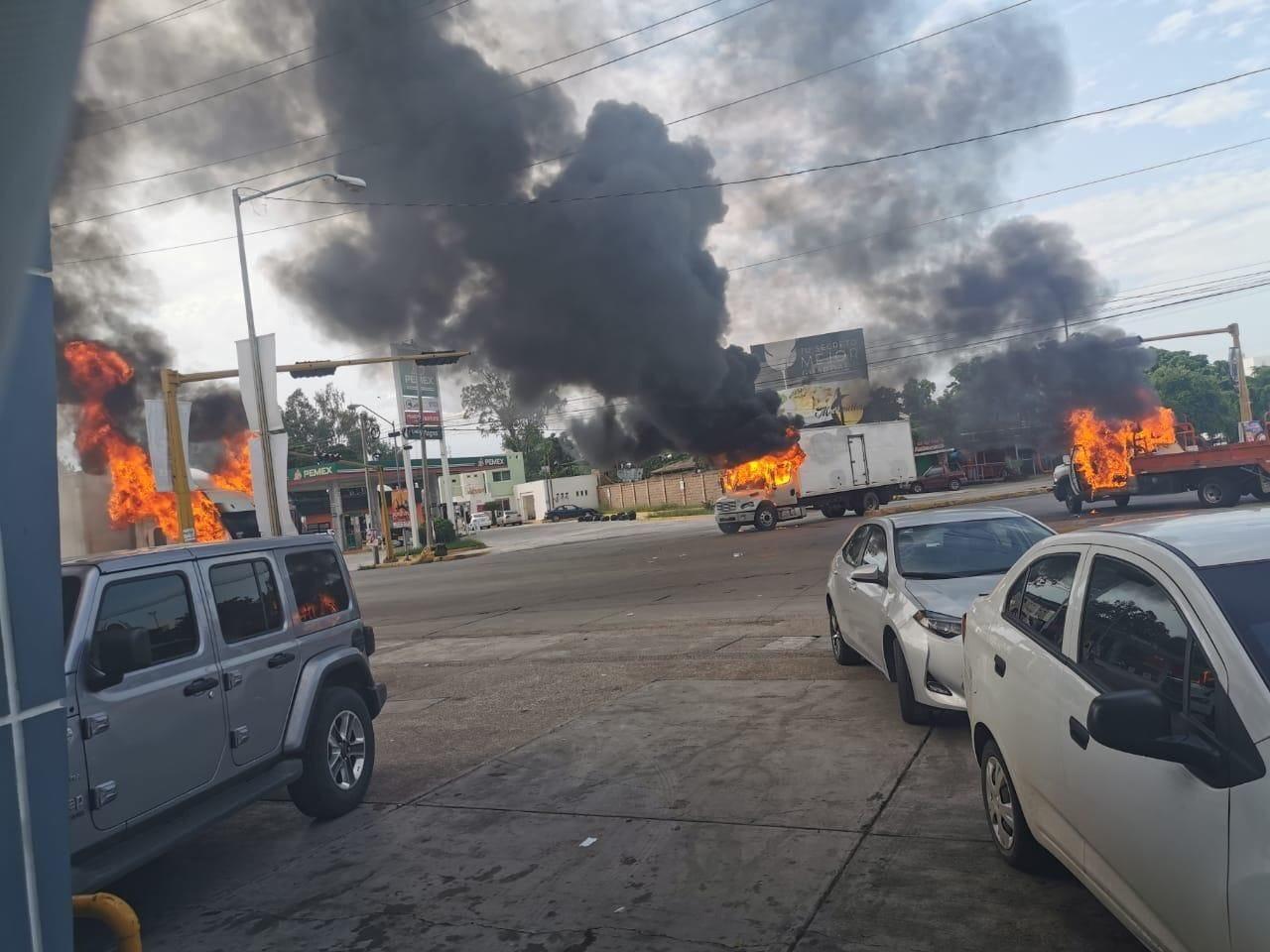 Se desata ola de violencia en Culiacán tras detención de hijo de