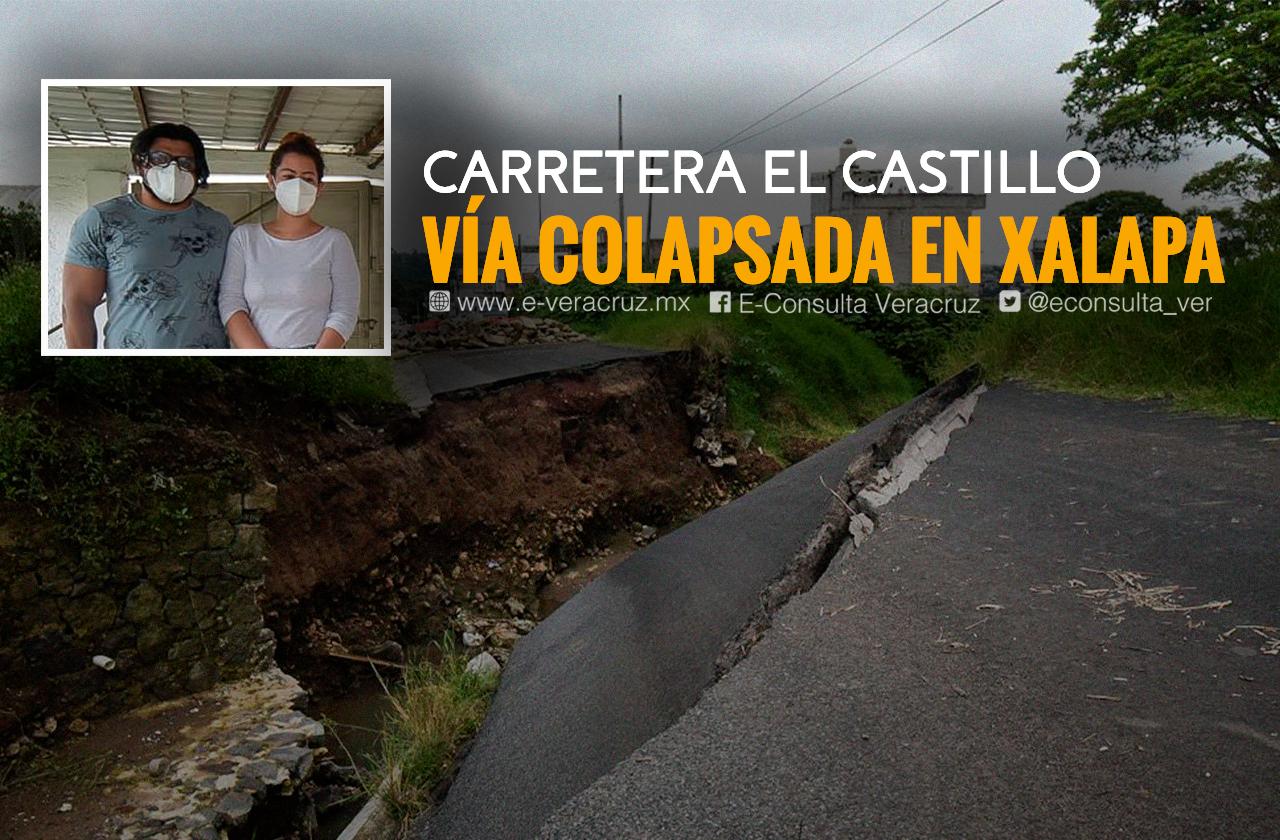 Río se come su casa tras paso de Grace en Xalapa; la ayuda no llega