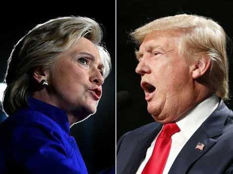 La contienda, poco predecible; ligera ventaja de 1.7% para Hillary Clinton