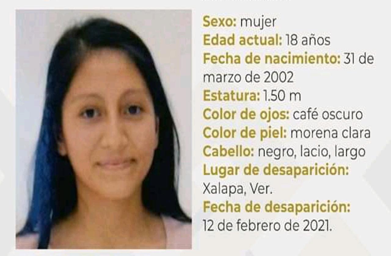 Emiten boletín por desaparición de Fátima, en Xalapa