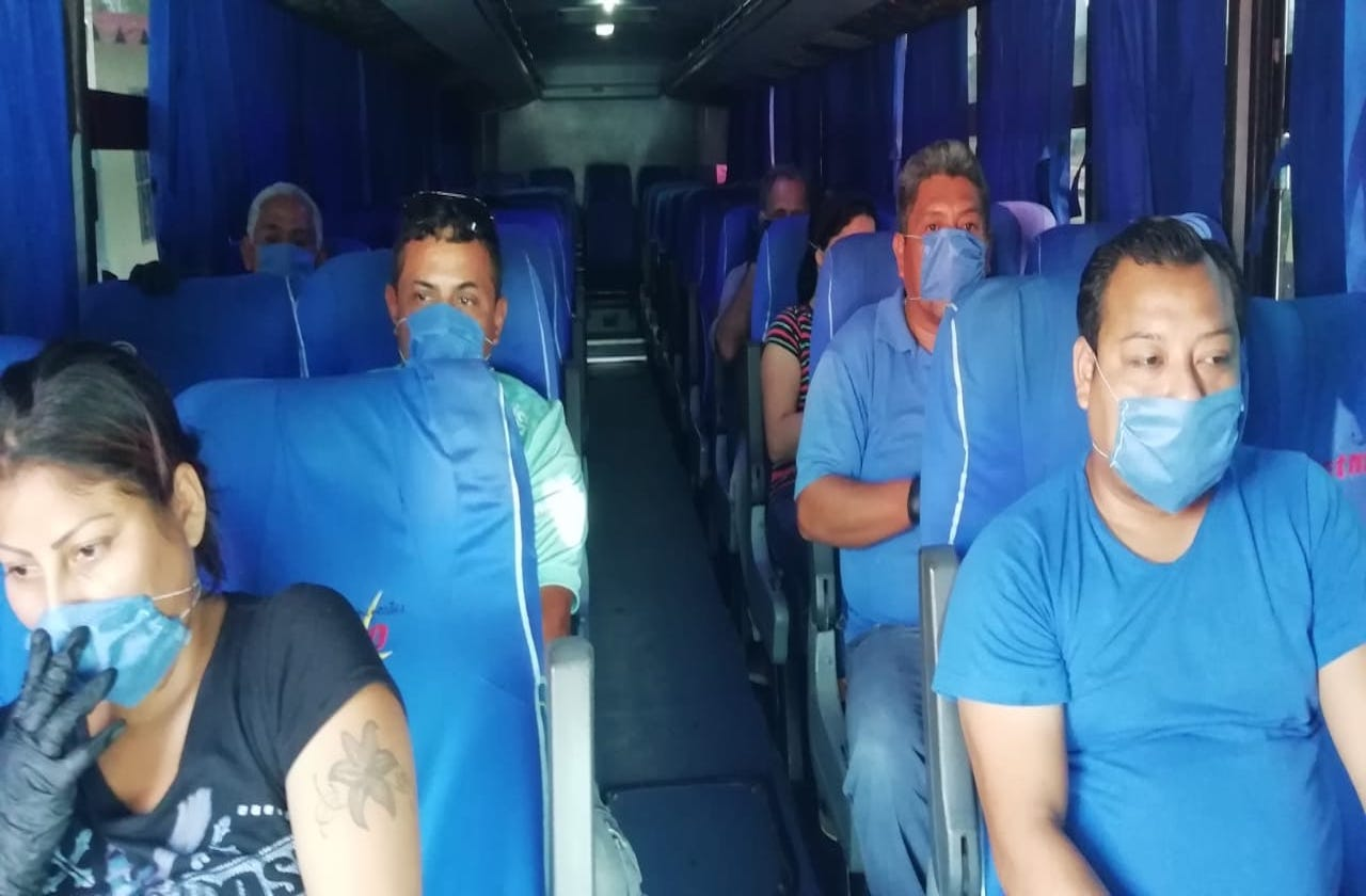 En Coatza, obligatorio cubrebocas para abordar transporte