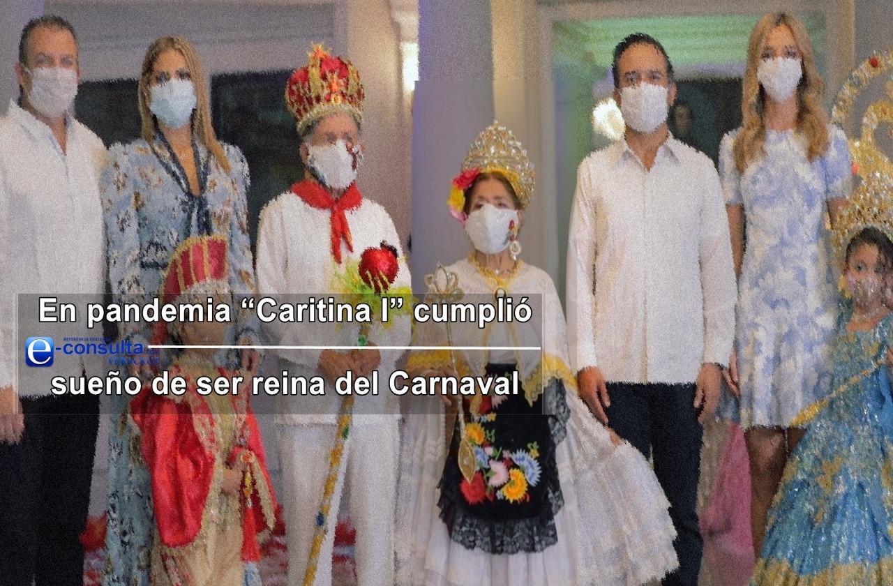 """En pandemia """"Caritina I"""" cumplió su sueño de ser reina del Carnaval"""