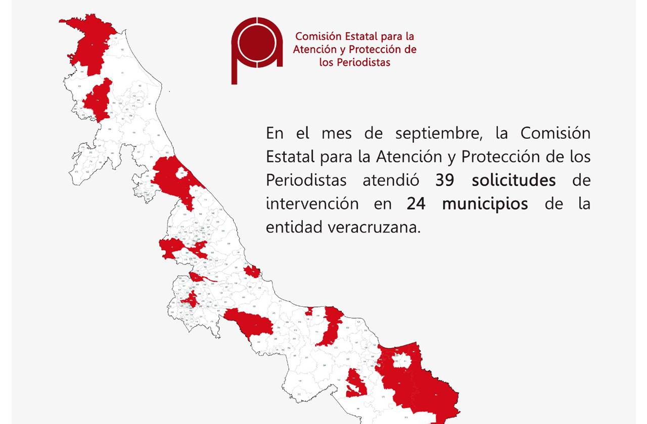 En septiembre, CEAPP atendió 39 solicitudes en Veracruz