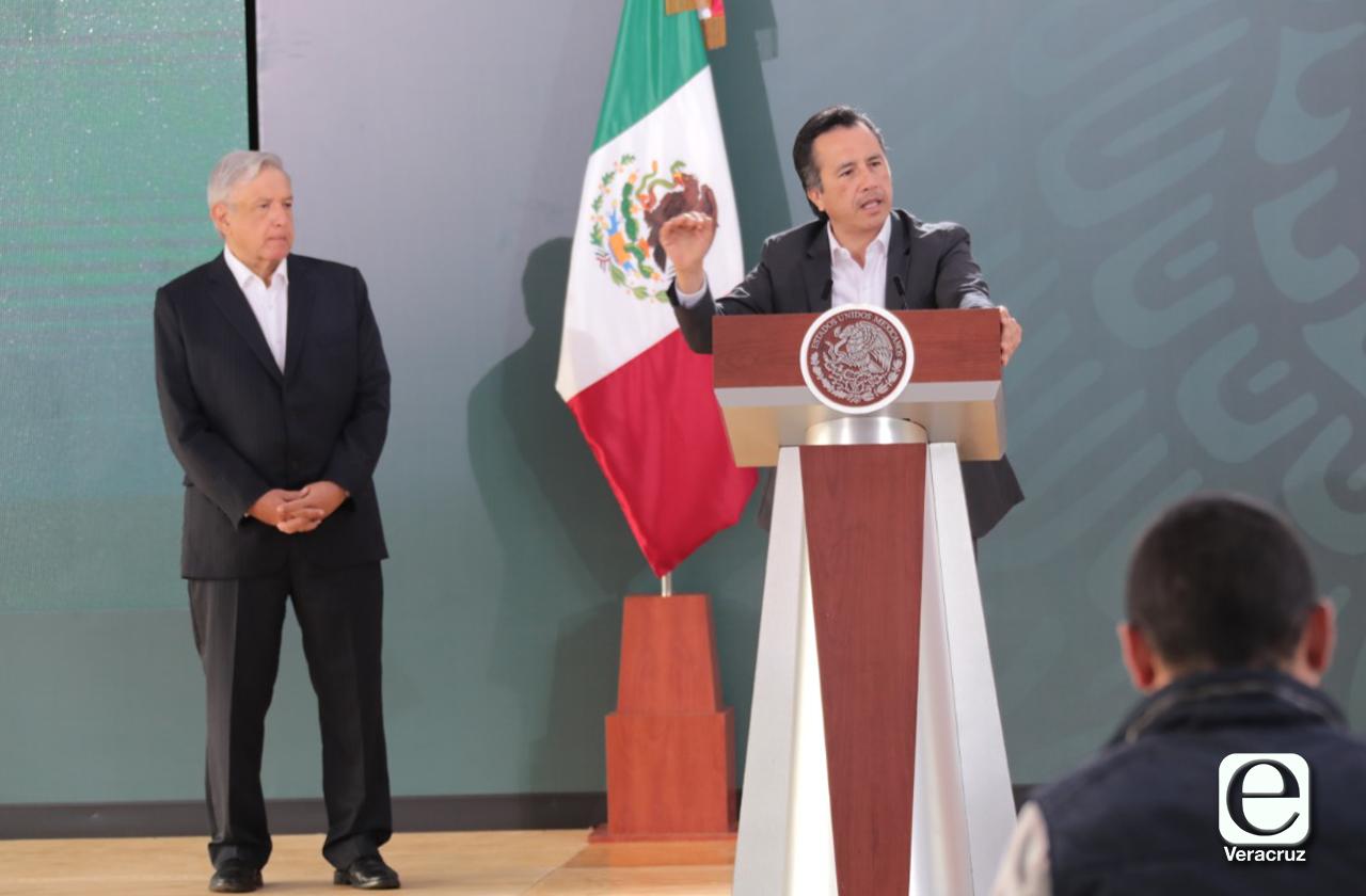 En Veracruz AMLO vuelve a elogiar a Cuitláhuac