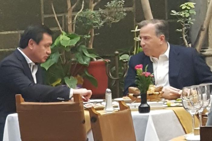 Meade y Osorio Chong se dejan ver juntos en restaurante de la CDMX