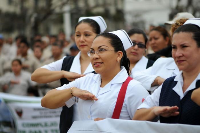 Enfermeras toman precauciones ante clima de inseguridad