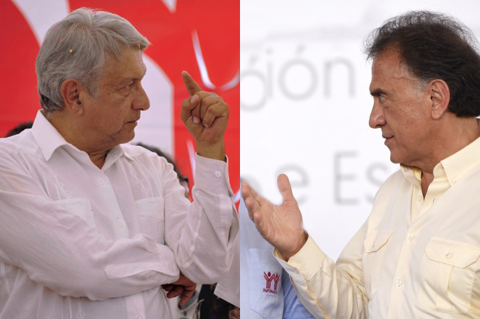 Yunes Linares reta a un debate a López Obrador