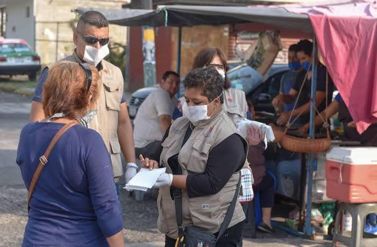 Entregarán cubrebocas en filtros sanitarios de Xalapa