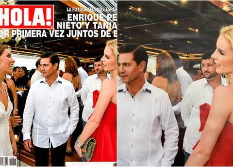Revelan nuevas fotos de EPN y Tania Ruiz en boda