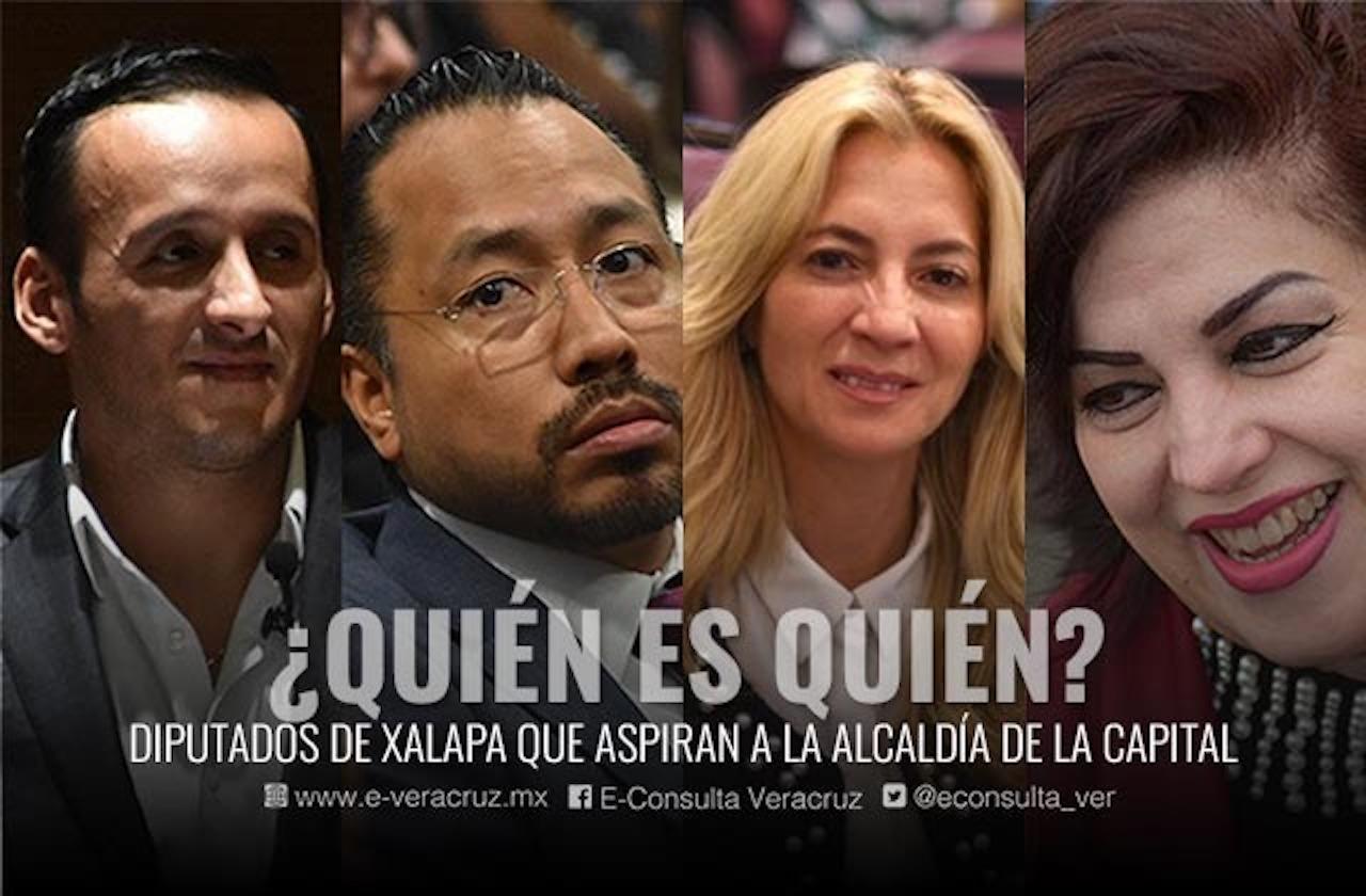 Esta es la productividad de 4 diputados que buscan alcaldía de Xalapa