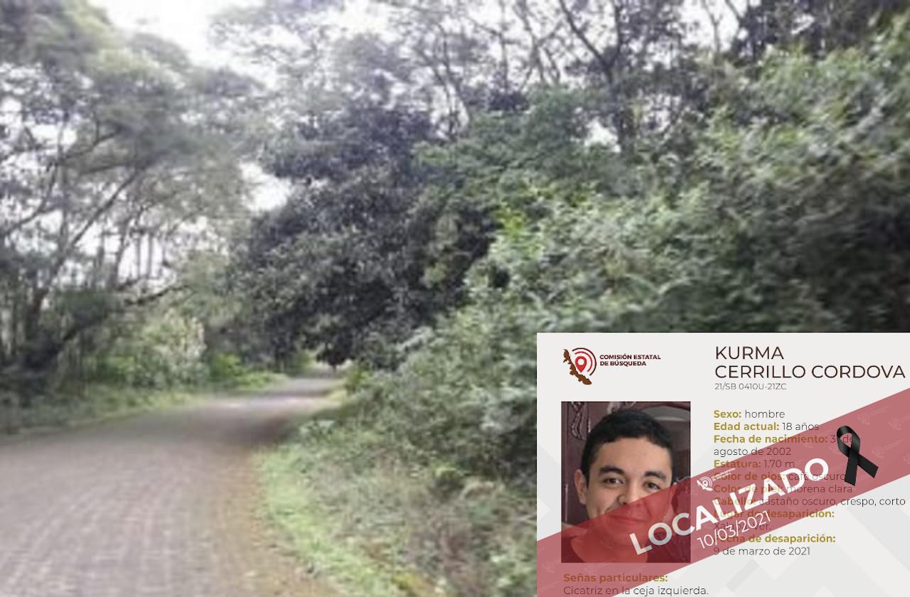 Esto se sabe sobre Kurma Cerillo; joven hallado muerto en Xalapa