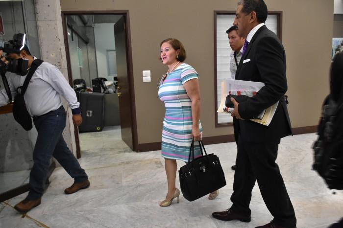 Comisión Instructora realiza audiencia de pruebas de Eva Cadena