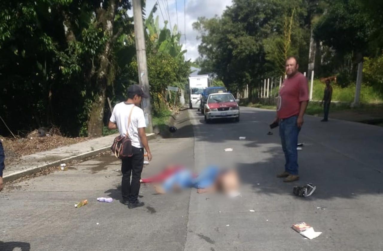 Excélsior arrolla a mujeres en moto sobre la Coatepec-Xico
