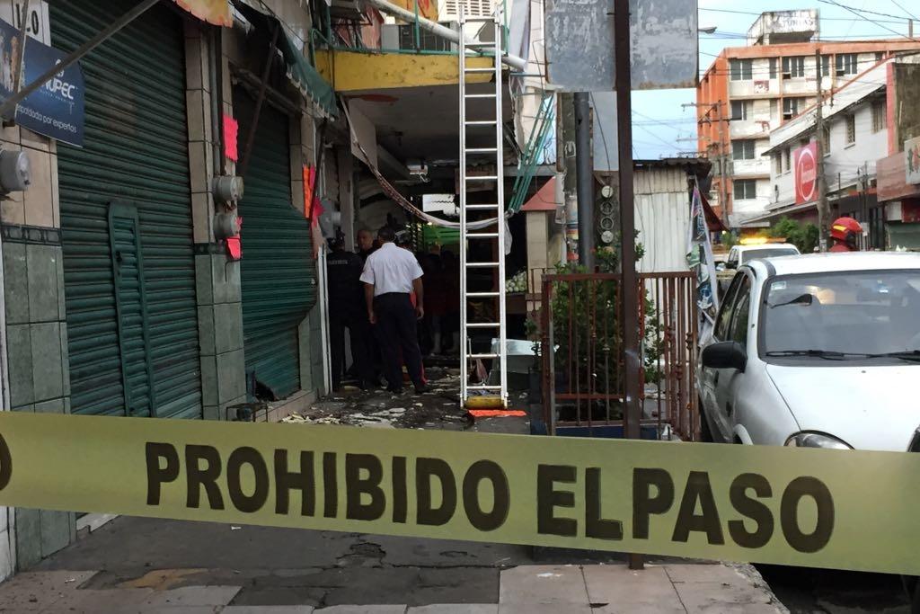 Explosión en zona de mercados de Veracruz deja ocho heridos