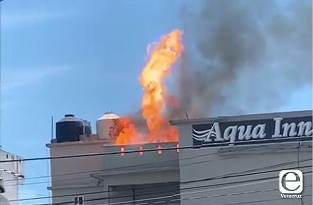 Causa alarma explosión e incendio en hotel de Tecolutla