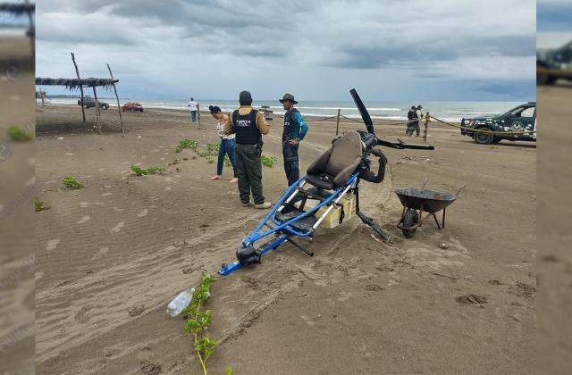 Se desploma aeronave turística en Úrsulo Galván