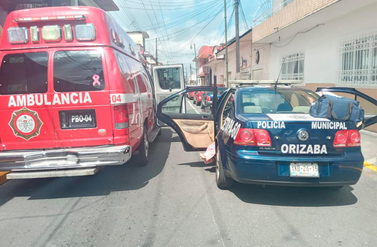 Fallece mujer a bordo de patrulla de Orizaba