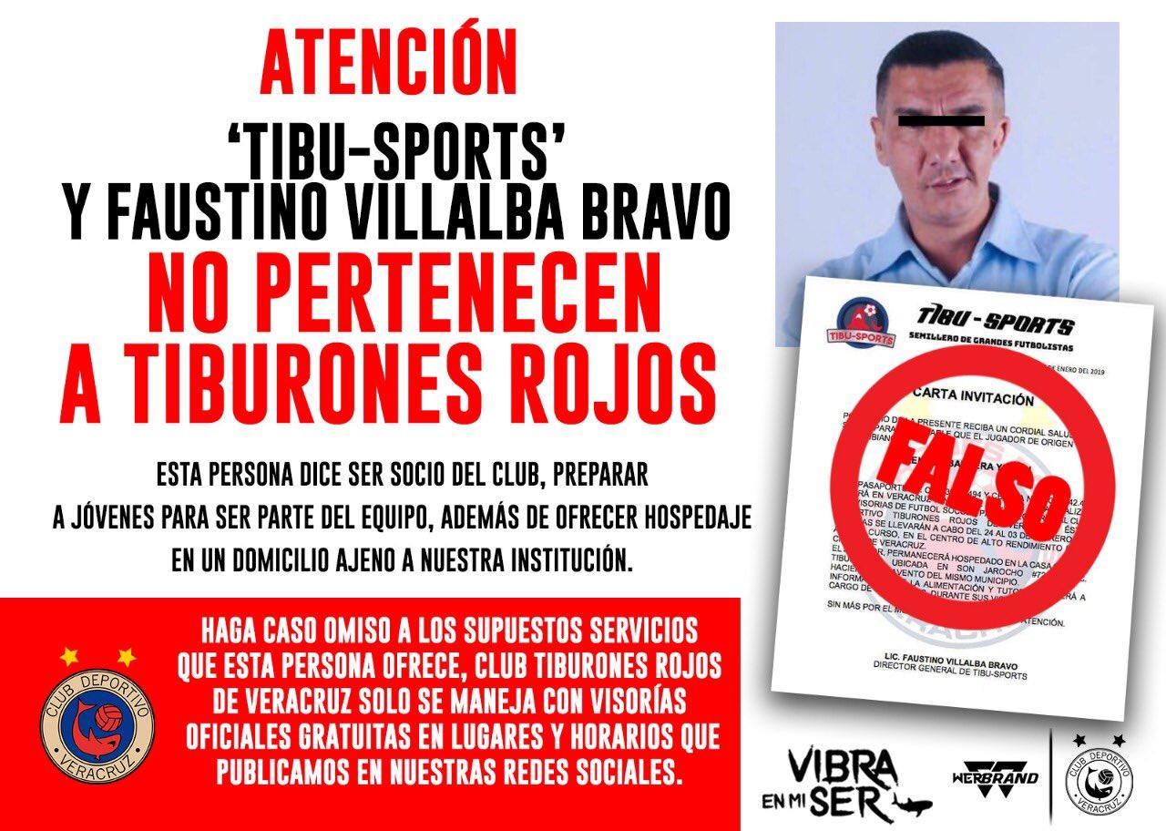 Denuncian timo de falso promotor de Tiburones Rojos