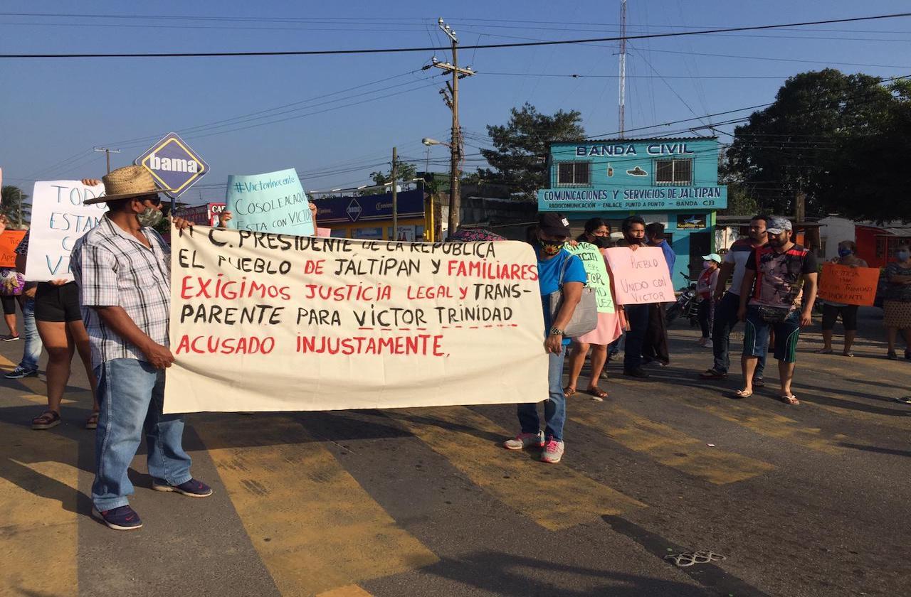 Familiares de guardia de Gladys Merlín marchan por su liberación