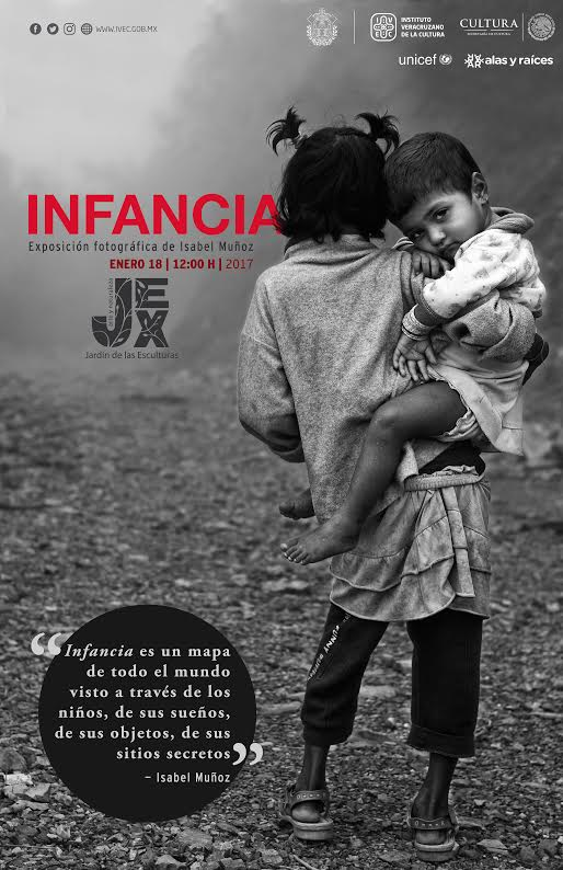 Exhibirá IVEC Infancia, fotografía de Isabel Muñoz, en el Jardín de las Esculturas
