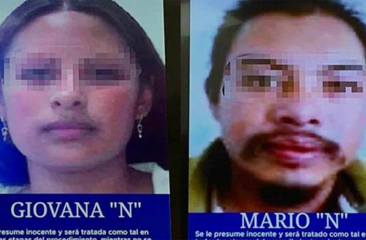 Detienen a Giovana y Mario, presuntos feminicidas de Fátima